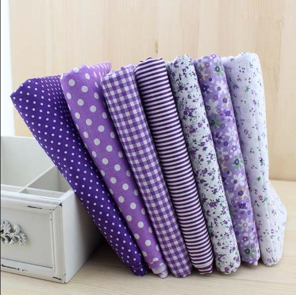 Гаджет  Free shipping 7pieces 50*50cm Purple fabric cotton fabric patchwork fabric Bundle quilting tilda fabric for sewing Diy cloth None Дом и Сад