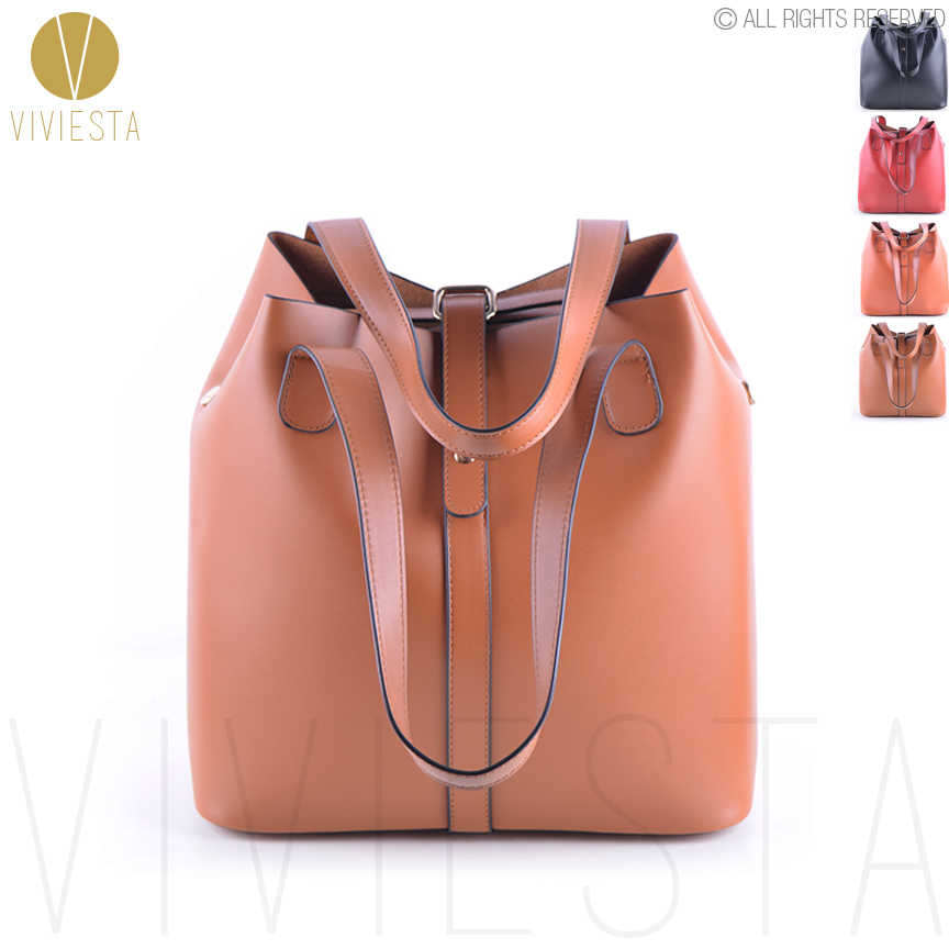 VINTAGE EXTRA LARGE BUCKET TOTE - Women 3-Way Casual Top Quality Leather Big Volume A4 Size Shoulder Shopping Bag Handbag Bolsa<br><br>Aliexpress