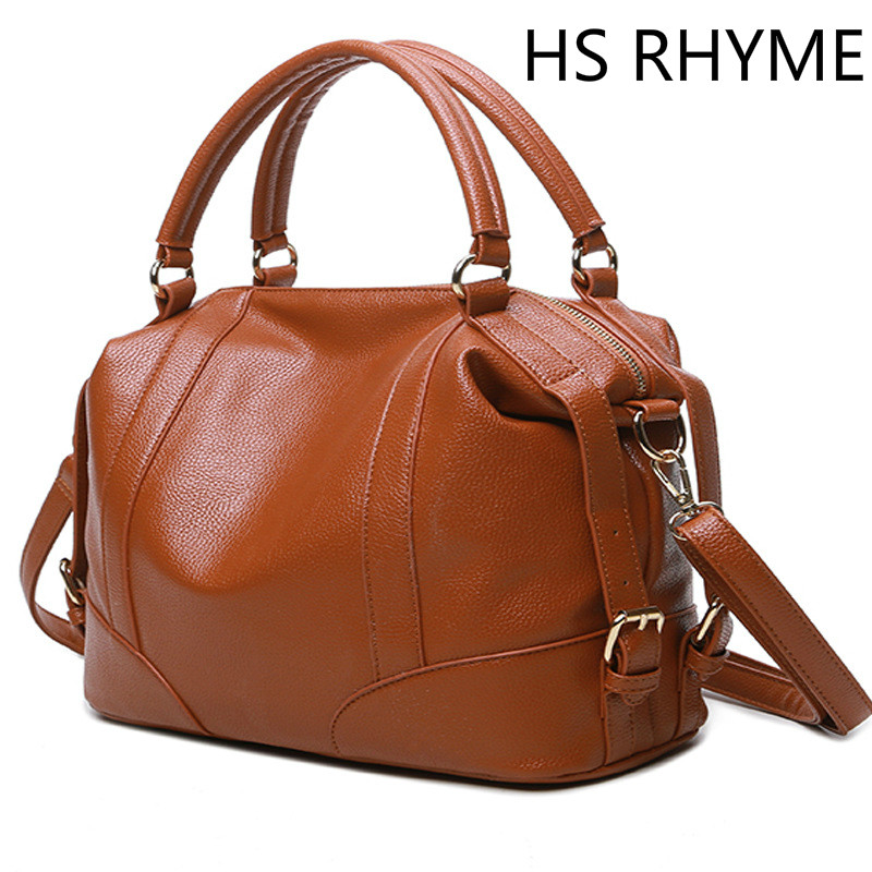 HS RHYME Soft Leather Handbags Big Women Bag Zipper Ladies Shoulder Bag Girl Hobos Bags New Arrivals Bolsa Feminina(China (Mainland))