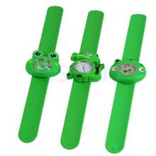 Free shipping Cute Cartoon Unisex Children Kid Sports Bendable Rubber Strap Quartz Wrist Watch