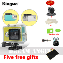 Original Kingma Xiaomi Yi Camera Waterproof Case, Mi Yi 40M Diving Sports Waterproof Box, Yi Action Camera aksesoris Accessories(China (Mainland))
