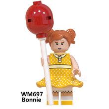 Brinquedos história 4 buzz lightyear woody jessie alienígena ducky bo peep bonnie duke caboom blocos de construção modelo figuras filme brinquedo wm6060(China)