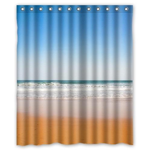 "High Quality Bath Curtain Home Product Beautiful scenery Beach Shower Curtain Mouldproof Waterproof Bathroom Curtain 60"" x 72""(China (Mainland))"