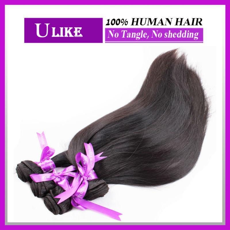 Brazilian Virgin Hair Straight 3 Bundles Brazilian Straight Hair MS Lula Hair Products Super Quality Beauty Brazilian Human Hair(China (Mainland))