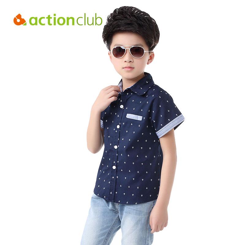 2016 Summer Style Boys Shirt Blouses 5 12 Years Short