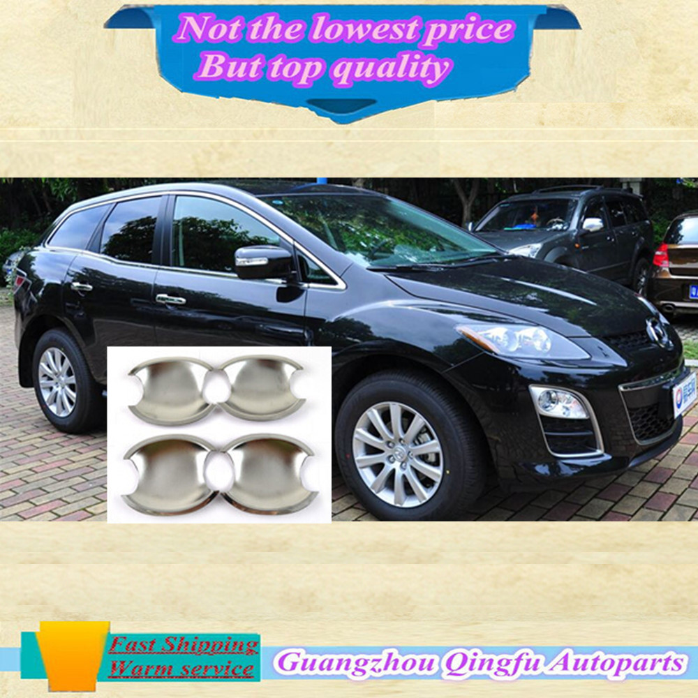 High quality car body stying cover detector external sticks frame lamp trim ABS chrome door handle bowl for MAZDA cx7 cx-7(China (Mainland))