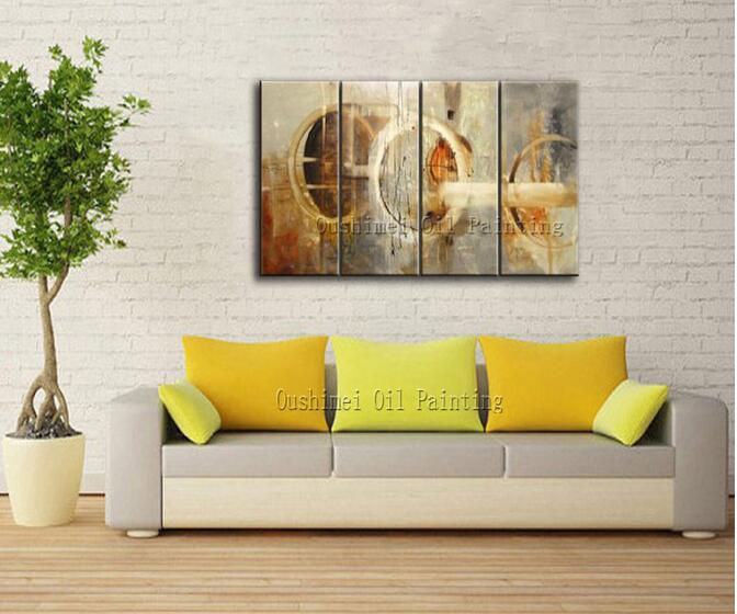 Big Manufacturer Wholesale High Quality Modern Abstract Oil Painting On Canvas Light Colors Abstract Oil Picture For Friend Gift(China (Mainland))
