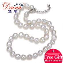 Daimi Genuine Baroque Pearl Necklace Trendy Necklace For Everyday Pearl Jewelry New Bijouterie Fine Jewelry Necklace(China (Mainland))