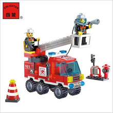 Different Combinations !! 130pcs/set Fire Fighting Truck DIY Building Blocks Toy Children Educational Puzzle Brinquedos Gifts(China (Mainland))