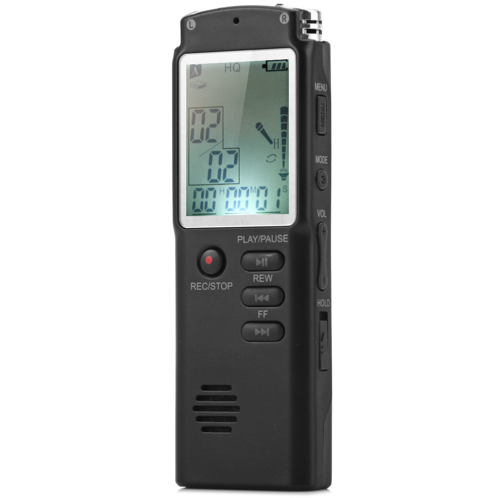 Hot 2 in 1 T60 Professional Digital Voice Recorder 8GB Real-Time Display Voice / Audio Recorder/Dictaphone/MP3 Player