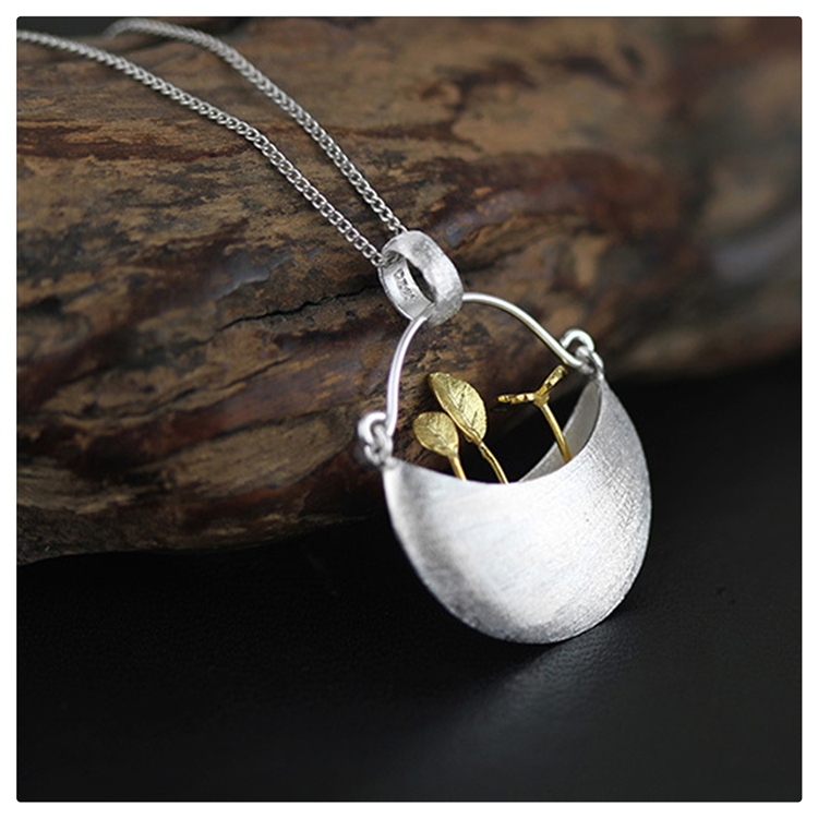 Exclusive! 2015 New Arrival Very Unique My Little Garden Design Pendant For Women 925 Sterling Silver Handmade Jewelry Best Gift(China (Mainland))