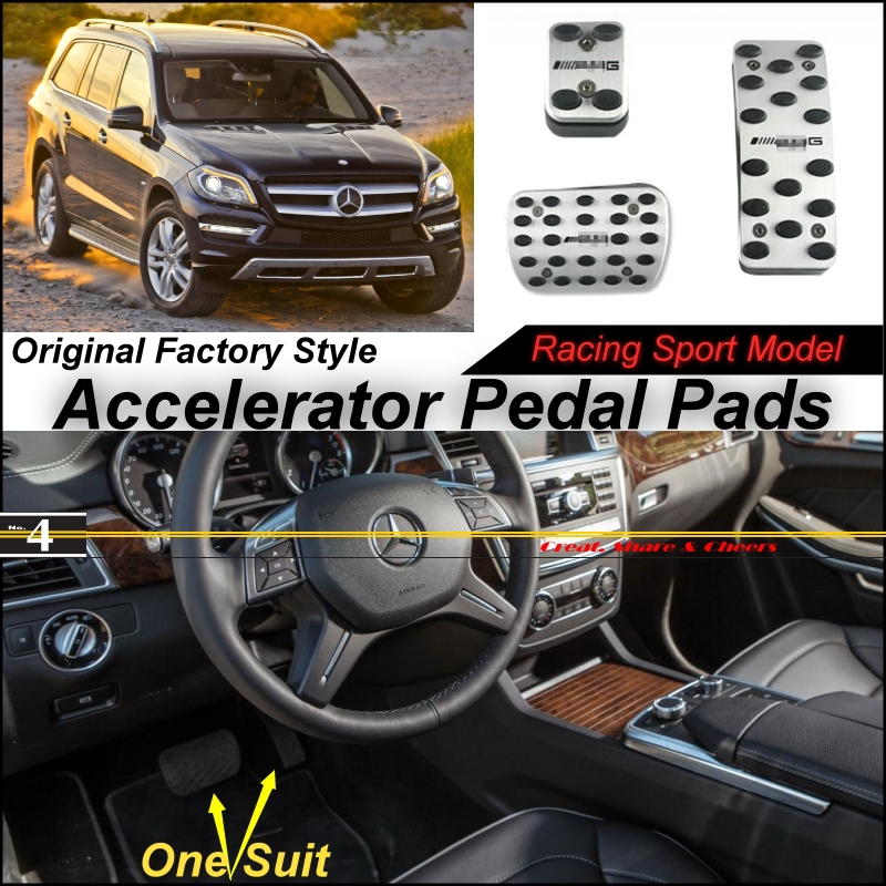 Car Accelerator Pedal Pad / Cover Factory Sport Racing Design Mercedes Benz GL Class GLS MB X166 Foot Throttle