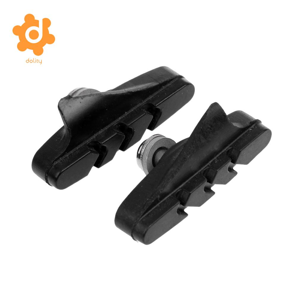 MagiDeal 2Pcs Rubber Brake Blocks/Pads/Holder/Shoes Durable pad for Road Bike Bicycle Fixie Gear Bicycle -Black