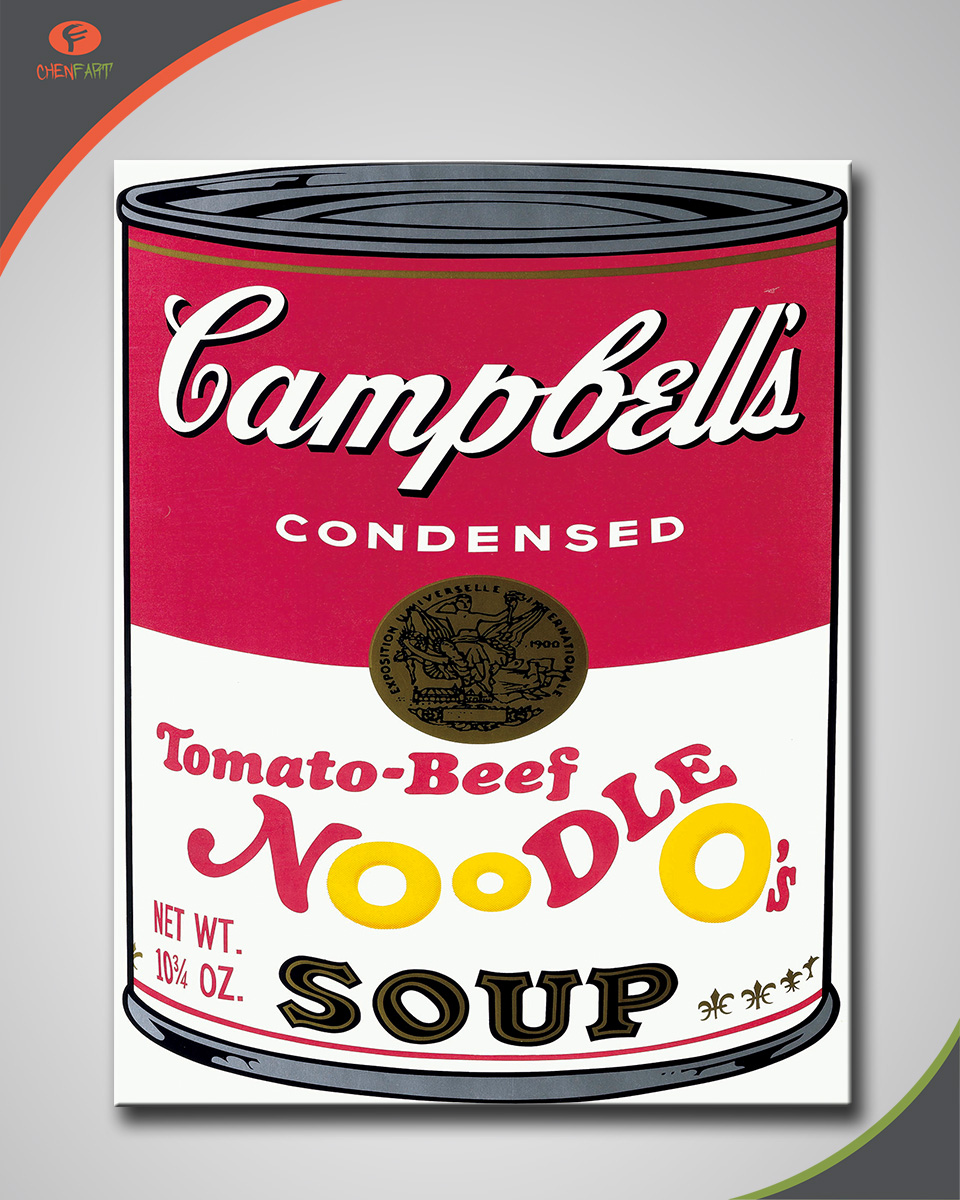 Andy warhol campbell's tomato beef noodle o's soup 1969 Painting Home Decor Home Decoration Oil painting Wall Pictures(China (Mainland))