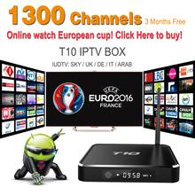Free azbox receiver 5.1 TV Box Amlogic S805 1G / 8G KODI IPTV Box 1300 WiFi HDMI Smart TV Box T10 LED digital Media Player(China (Mainland))