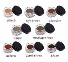 Free shipping (8pcs/lot) 8 colors Waterproof ABH EyeBrow Cream Gel Filler Long Lasting POMADE Enhancers(China (Mainland))