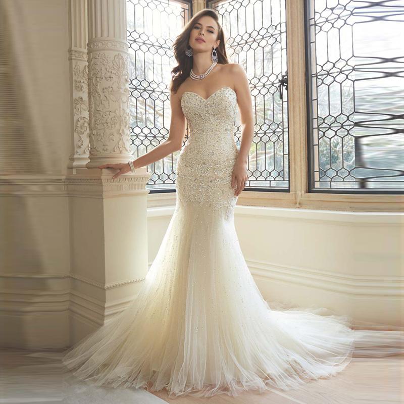 Trumpet Wedding Dress Tulle : Elegant dreamy style wedding dress tulle women bridal gown