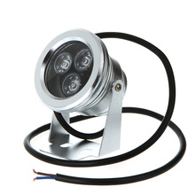 9W 12V IP68 waterproof Underwater LED Light Super bright Stainless steel Landscape Fountain Pond Lamp Bulb White(China (Mainland))