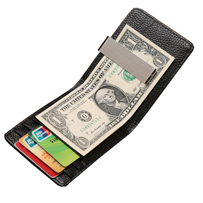 Hot Sale Brand Men Short Wallet Quality PU leather Multi-Card Bit Metal Clip Design Coin Purse Clutch Wallet For Men<br><br>Aliexpress