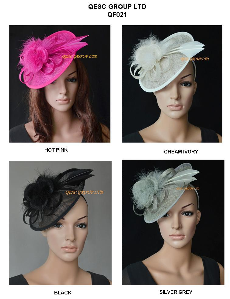 NEW ARRIVAL. Sinamay Fascinator hat for wedding,Kentucky Derby,Ascot Races,Melbourne Cup,Party.silver,black,ivory,fuchsia.(China (Mainland))