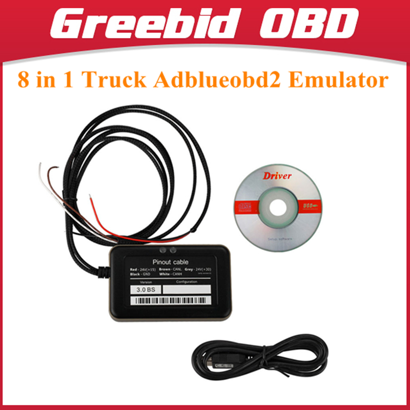 New Truck Adblueobd2 Emulator 8 in 1 with Nox Sensor Adblueobd2 Emulator for Mercedes/MAN/Scania/Iveco/DAF/Volvo/Renault/Ford(Hong Kong)