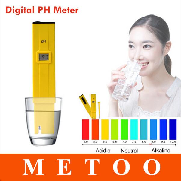 Digital PH Meter Pocket Pen PH Tester Automatic Temperature Corrector Aquarium Pool Water Drink Water Portable(China (Mainland))