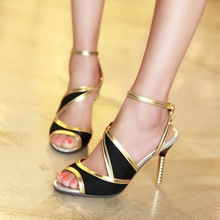 Summer Sexy Party Women's Shoes Open Toe Thin High-Heel Sandals For Women Plus Size Ankle Straps Sandalias Sapatos Femininos