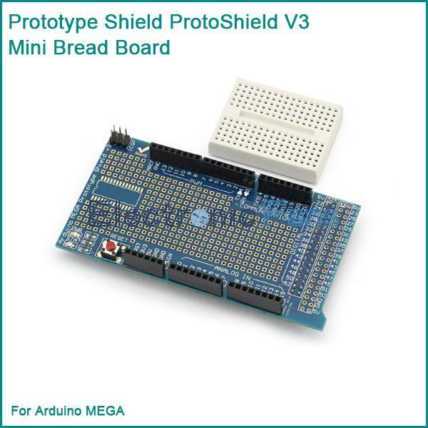 New Prototype Shield ProtoShield V3 + Mini Bread Board For Arduino MEGA (+Arduino Due)