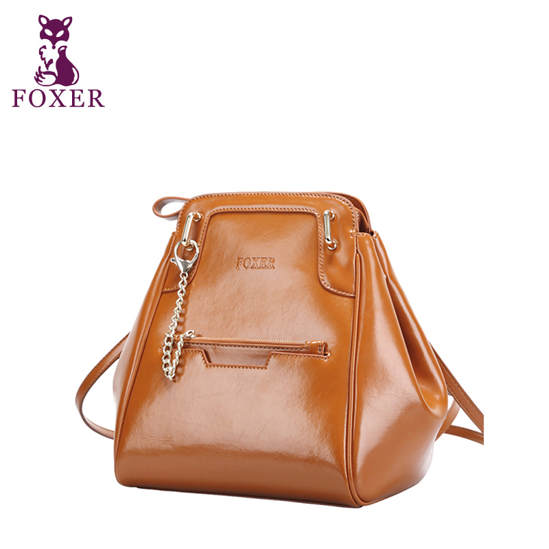 FOXER women backpack new 2014 women messenger bags fashion shoulder bag multifunction school backpacks genuine leather totes<br><br>Aliexpress