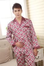 2015 Summer Grey Black Pajamas Set New Design Men Lounge Gowns Pajamas Printed Hot Sale Europe America Style Nightgown Pajamas(China (Mainland))