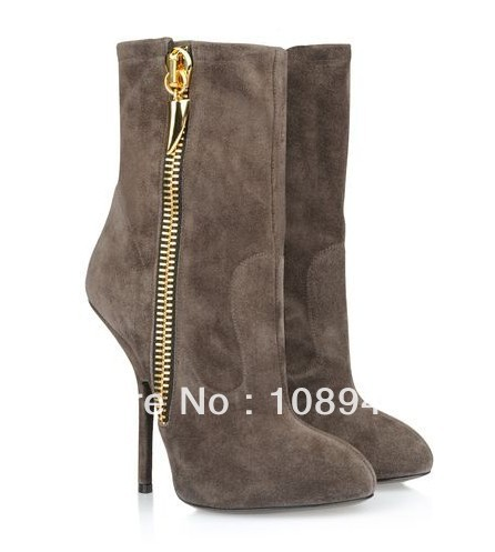 Gold Boots Womens Boots Nubuck Leather Gold
