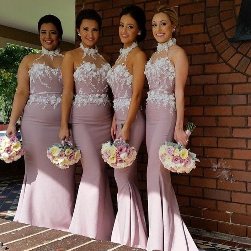 Flower Bridesmaid Dress - Flowers Ideas