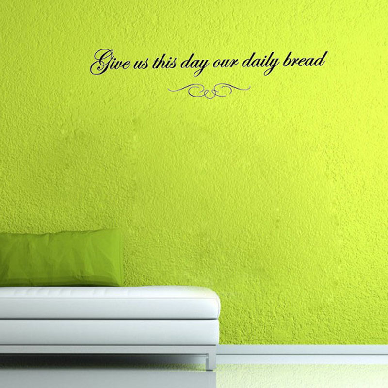 Give Us This Day Our Daily Bread Wall Decals Art Adhesive Home Decor Wall Stickers For Dinning Room(China (Mainland))
