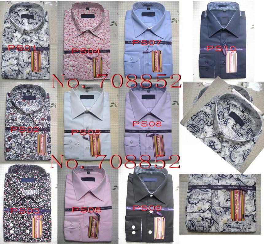product PS#5  Free 2014 New Pola smith Brand shirt Slim Casual men Stripe shirts High Quality Mens dress shirts long sleeve men shirt