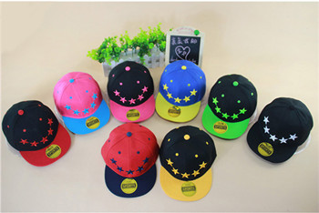 YUXI New Arrivals Embroidery Stars Kids Cap Casquette Snapback Solid Cottom Chapeu Gorras Planas Femme Gorro Fitted Hats Boy Cap(China (Mainland))