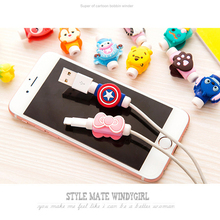 10PCS Fashion Cute Cartoon USB Cable Protector Cover Case For Apple Iphone android Charger Data Cable Earphone Accessories(China (Mainland))