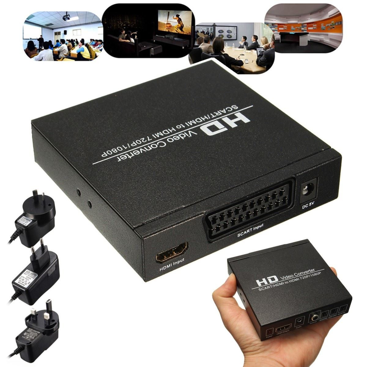 scart hdmi to hdmi converter full hd 1080p digital video converter adapter eu ebay. Black Bedroom Furniture Sets. Home Design Ideas