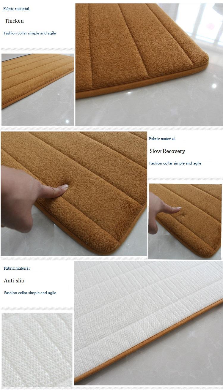 Memory Foam Bath Mat Rug,Modern Floor Anti-Silp Bathroom Rugs Carpet ...