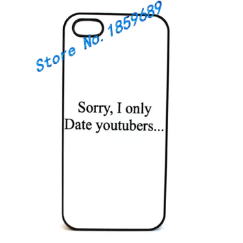 Only Date YouTubers fashion cover case for iphone 4 4s 5 5s 5c for 6 & 6 plus #HH1097(China (Mainland))