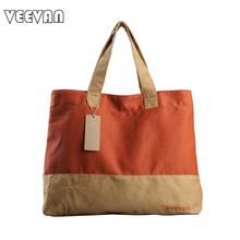 VEEVAN 2017 Leisure Fashion Handbags Ladies Tote Shoulder Bag Women's Men Canvas Handbags Garment Duffle Shopping Bags Wholesale(China (Mainland))