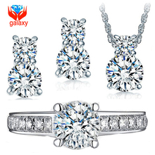 Hot Sale Genuine 925 Sterling Silver Jewelry Sets Luxury CZ Diamond Wedding Engagement Bridal Sets For Women African Sets WH001(China (Mainland))