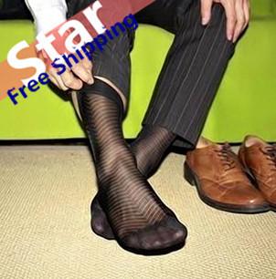 Внешняя торговля мужчины чулки нейлон шелк прозрачный носки ультра-дешевый тонкий ...