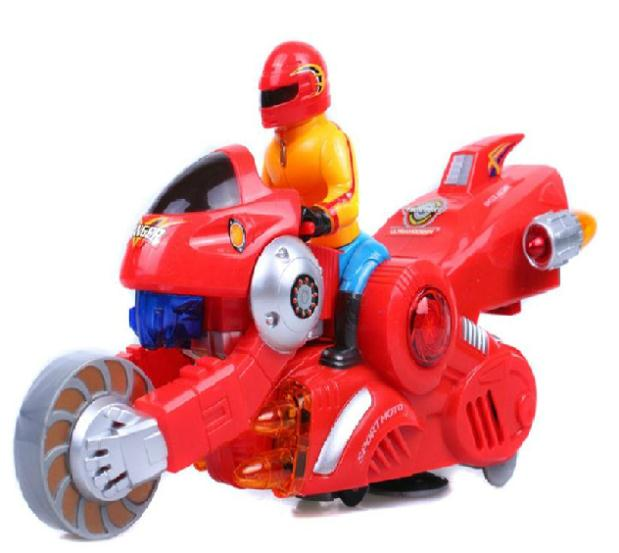 Deformation motorcycle lift robot motorcycle 28126 Children toys puzzle deformation toys Best gift(China (Mainland))