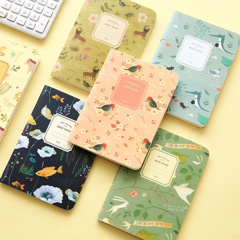 New vintage Floral Notebook Korea Sationey School Supplies 32sheets Mini Notes(China (Mainland))