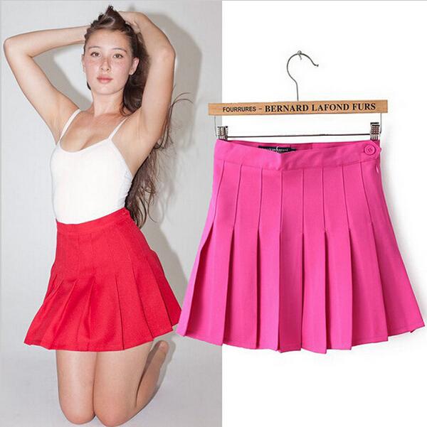 2015 Summer Style Women Tennis Skirts Brand High Waist Nifty Pleated Ladies'MINI Skirts Spring Autumn Casual Skirts(China (Mainland))