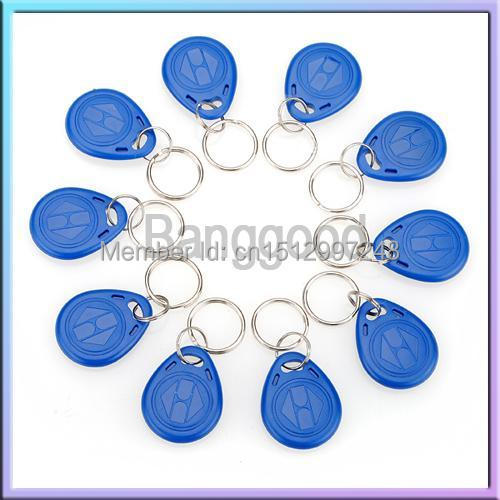 10Pcs/Lot 125kHz RFID ABS Proximity ID Card Entry Lock Door Access Control System Time Attendance Wireless Token Tag Keyfob Ring(China (Mainland))