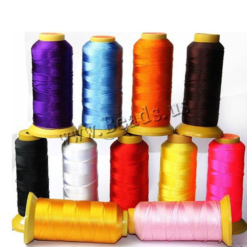 750Meter Spool 16 color Silk Beading Thread BEAD Cord String(China (Mainland))