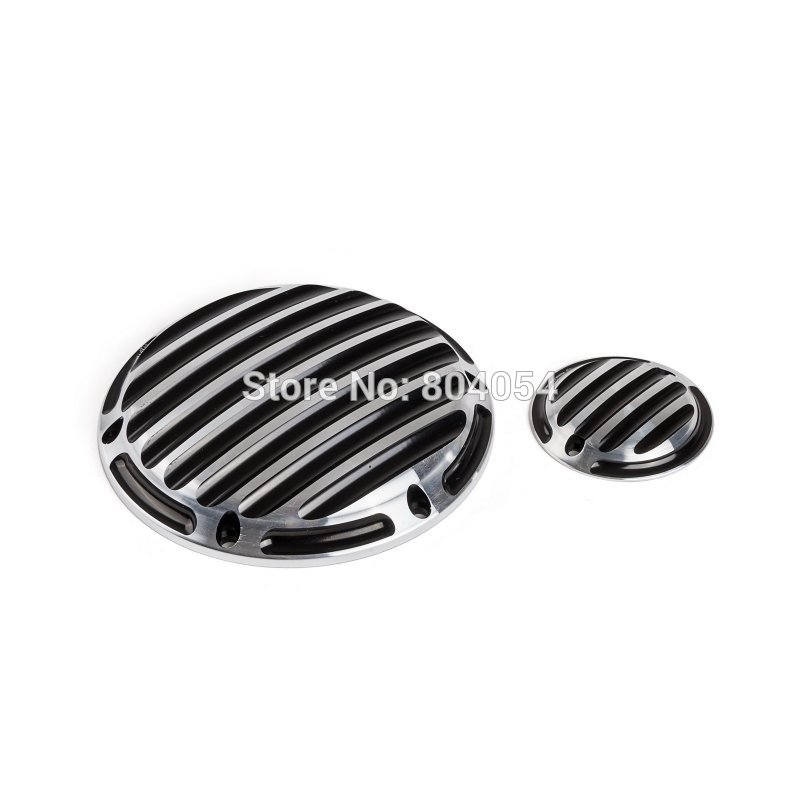 New Motorcycle CNC Derby Cover Timing Timer Cover For Harley Sportster XL 883 1200 2004-UP Silver  and Black