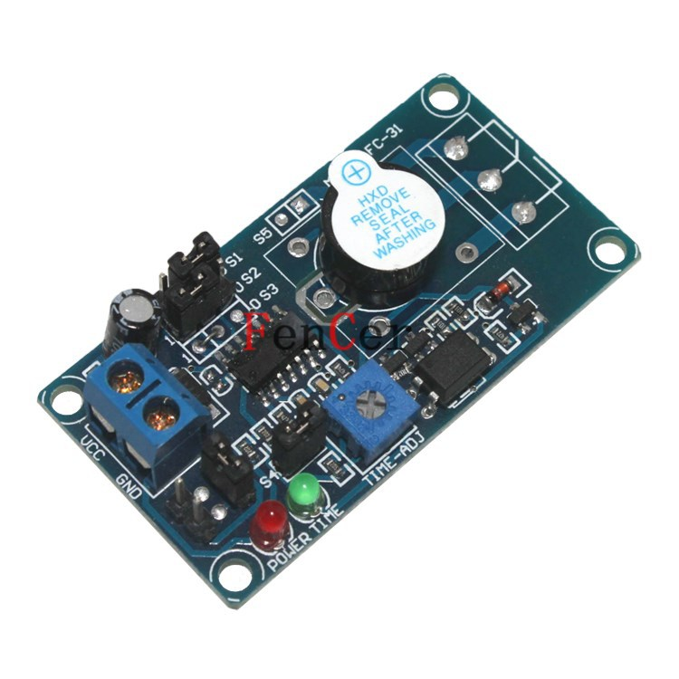 Russia Hit 5 v high and low level trigger delay alarm buzzer electronic module power supply time is adjustable(China (Mainland))