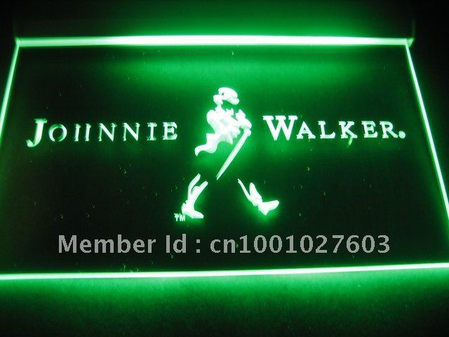 w201 Johnnie Walker Whiskey Wine Bar Neon Light Signs